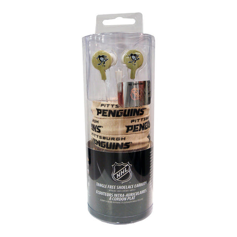Shoelace Earbuds - NHL Pittsburgh Penguins - Peazz Toys