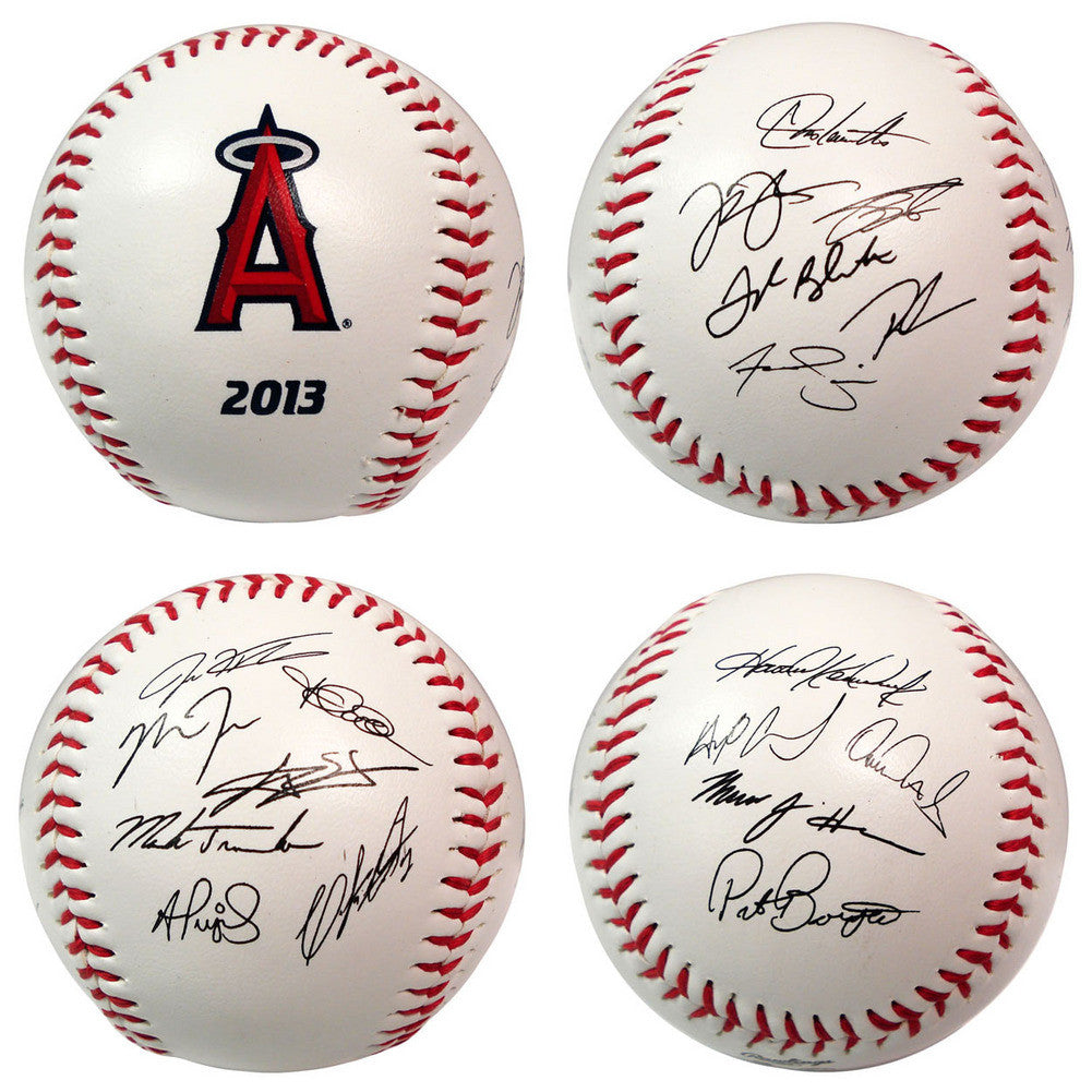 2013 Team Roster Signature Ball Los Angeles Angels