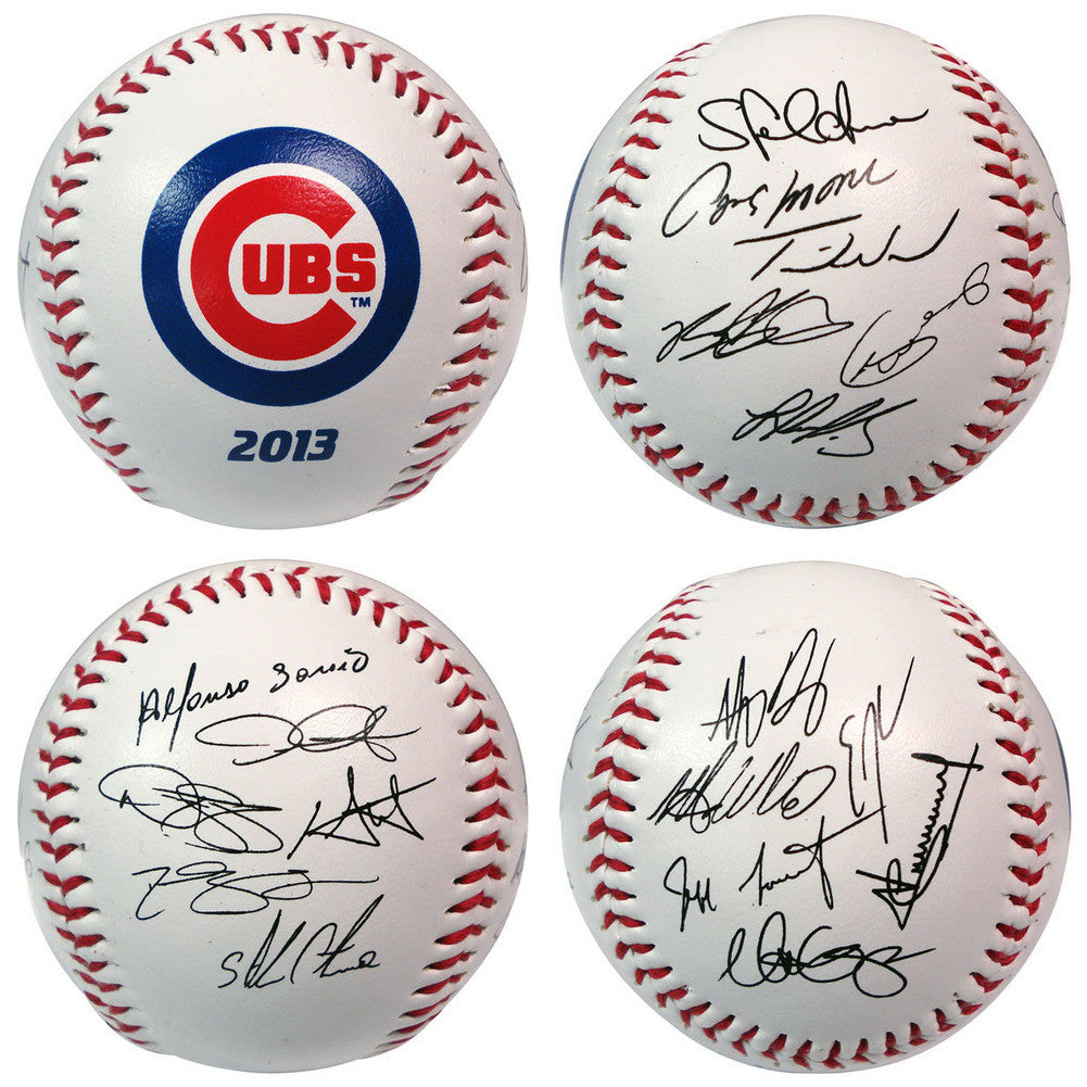 2013 Team Roster Signature Ball Chicago Cubs
