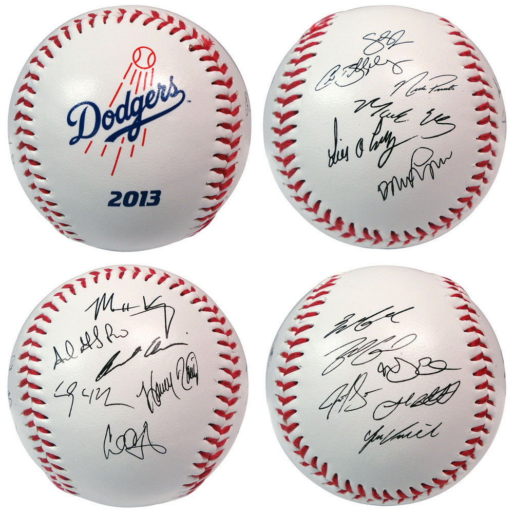 2013 Team Roster Signature Ball Los Angeles Dodgers