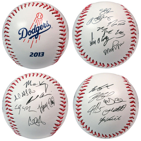 2013 Team Roster Signature Ball - Los Angeles Dodgers - Peazz Toys