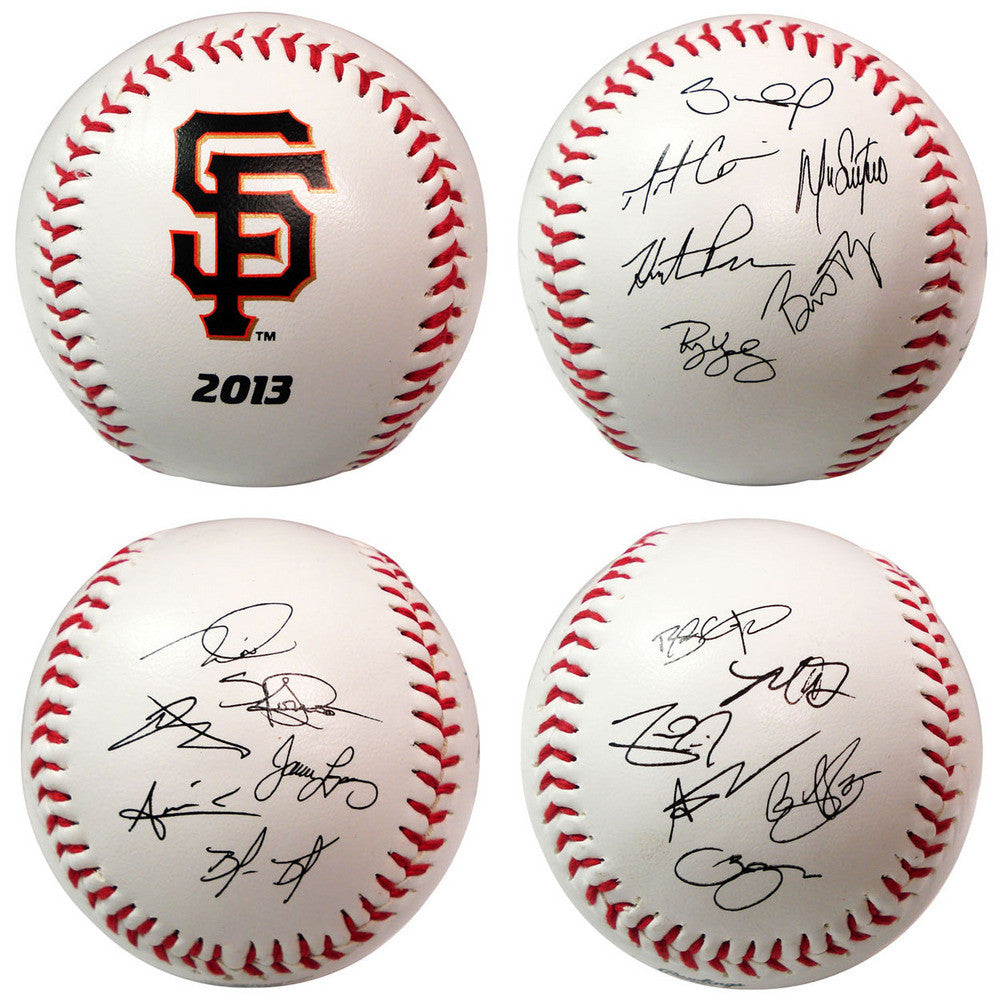 2013 Team Roster Signature Ball San Francisco Giants