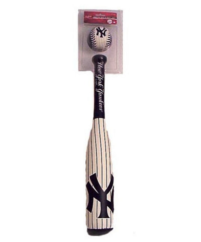 "Team Logo ""Grand Slam"" Softee Bat & Ball Set - Yankees Pinstripe Edition - Peazz Toys"