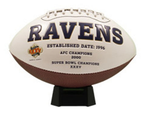 Signature Series Team Full Size Footballs - Baltimore Ravens - Peazz Toys