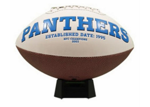 Signature Series Team Full Size Footballs - Carolina Panthers - Peazz Toys