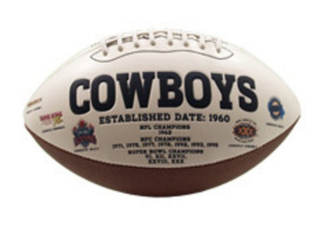 Signature Series Team Full Size Footballs - Dallas Cowboys - Peazz Toys
