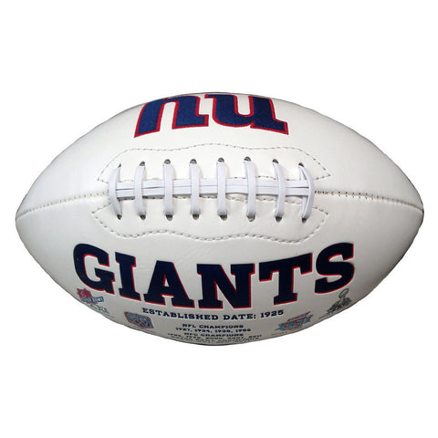 Signature Series Team Full Size Footballs - New York Giants - Peazz Toys
