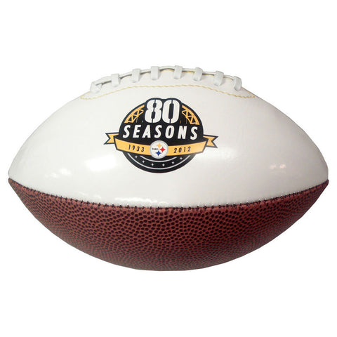 Mini Steelers 80Th Anniversary White Panel Football - Peazz Toys