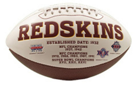 Signature Series Team Full Size Footballs - Washington Redskins - Peazz Toys