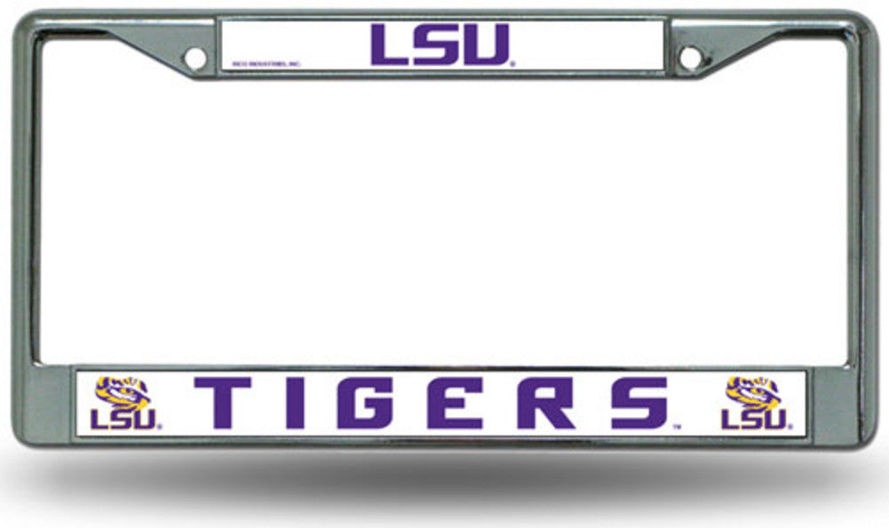 License | Chrome | Fight | Plate | Tiger | Frame | LSU