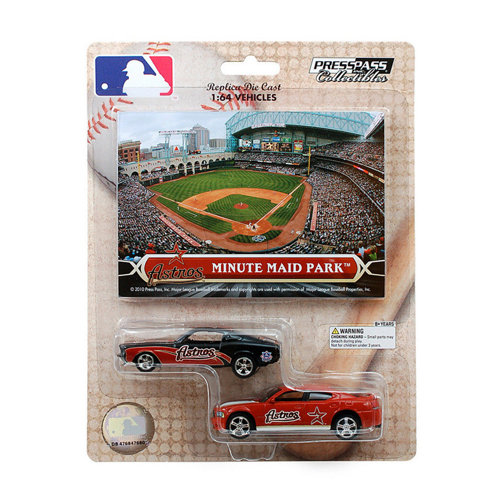 2 Pack 1967 Mustang 164 Diecast Home And Away Cars With Commemorative Cards Houston Astros