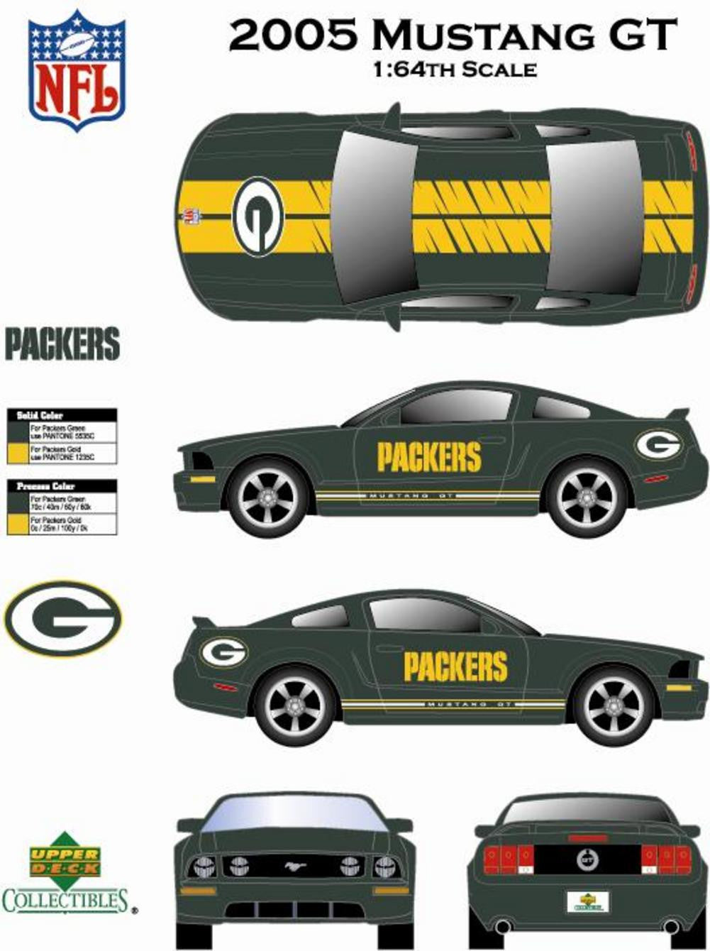 2006 NFL Mustang Gt With Card Green Bay Packers Brett Favre