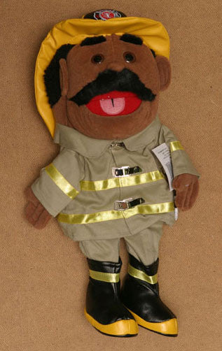 14 Firefighter Glove Puppet White