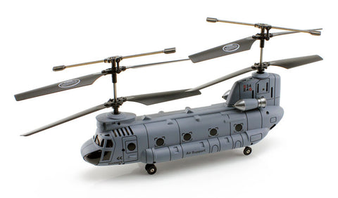2.4Ghz 3.5ch Chinook RC Helicopter with Gyro - Gray - Peazz Toys