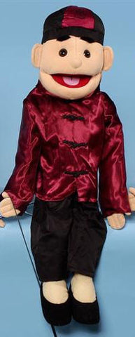"28"" Asian Boy Puppet - Peazz Toys"