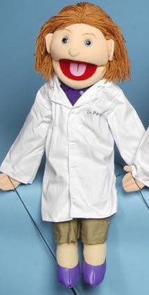 "28"" Female Doctor Puppet - Peazz Toys"