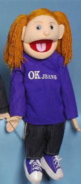 "28"" OK Jeans Girl Puppet - Peazz Toys"