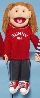 "28"" Sunny Girl Puppet w/ Red Shirt - Peazz Toys"