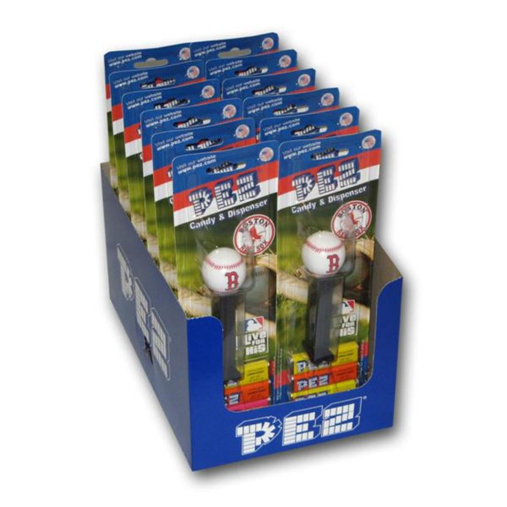 12 Packs of MLB Pez Candy Dispenser Red Sox