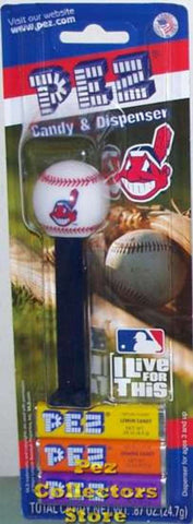 12-Packs of MLB Pez Candy Dispenser - Indians - Peazz Toys