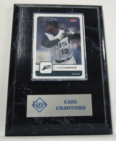 MLB Card Plaques - Tampa Bay Rays-Carl Crawford - Peazz Toys