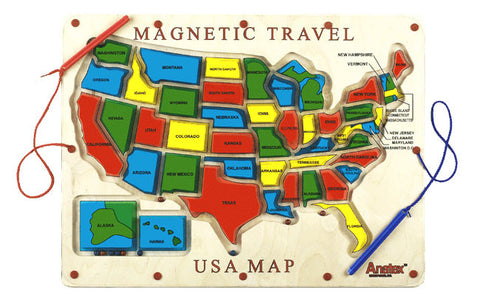 Anatex UM2007 Magnetic Travel USA Map - Peazz Toys