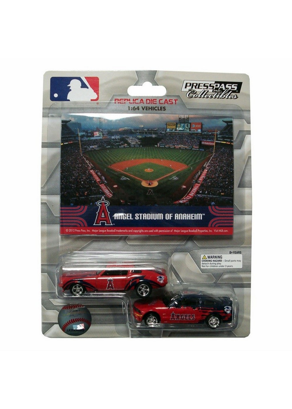 2 Pack Ford Mustang With Ballpark Card Los Angeles Angels
