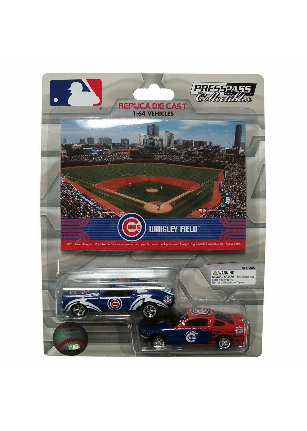 2 Pack Ford Mustang With Ballpark Card Chicago Cubs