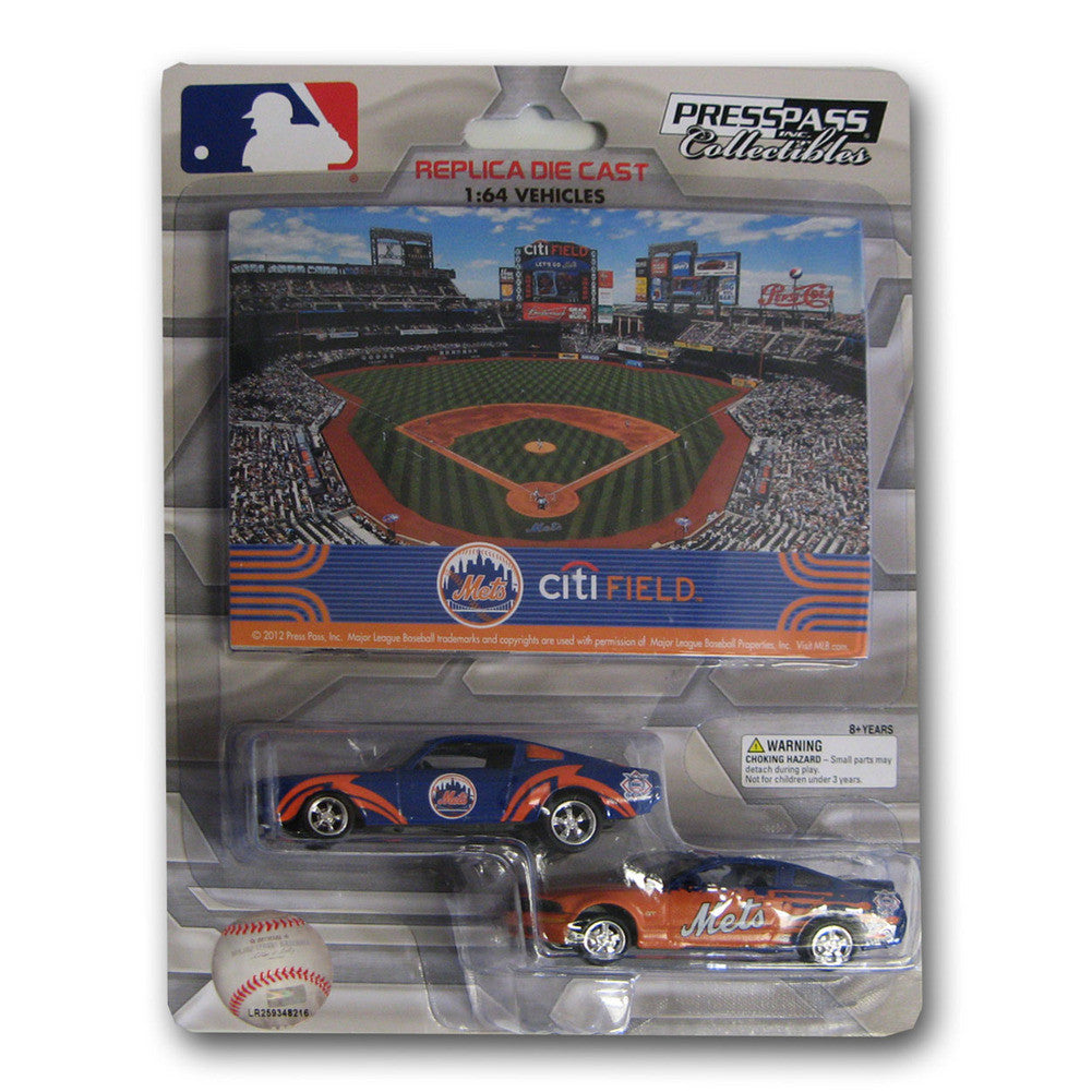 2 Pack Ford Mustang With Ballpark Card New York Mets
