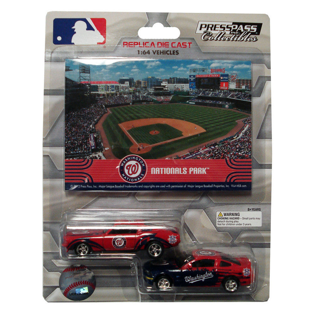 2 Pack Ford Mustang With Ballpark Card Washington Nationals