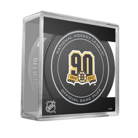 Official Hockey Puck - Boston Bruins (Anniversary logo) - Peazz Toys