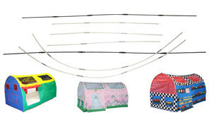 Bazoongi  RP-BDT Bed Tent Replacement Poles - Peazz Toys