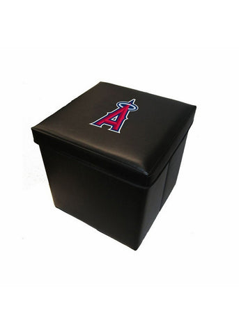 16-Inch Faux Leather Team Logo Storage Cube - Los Angeles Angels - Peazz Toys