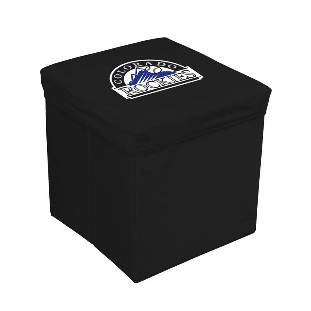 16 Inch Team Logo Storage Cube Colorado Rockies