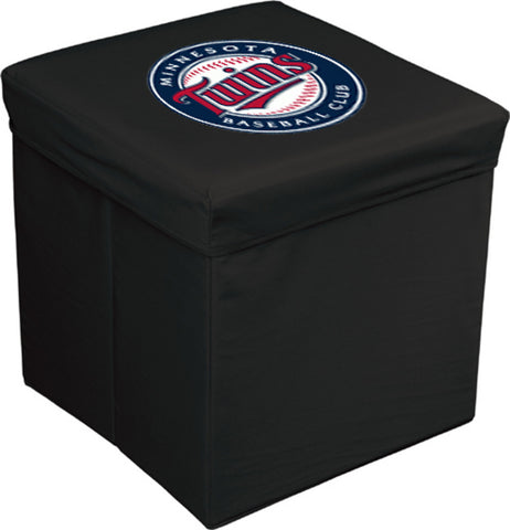 16-Inch Team Logo Storage Cube - Minnesotta Twins - Peazz Toys