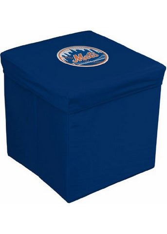 16-Inch Team Logo Storage Cube - New York Mets - Peazz Toys