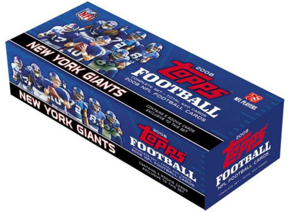 2008 Topps NFL Complete Factory Set New York Giants 440 Cards