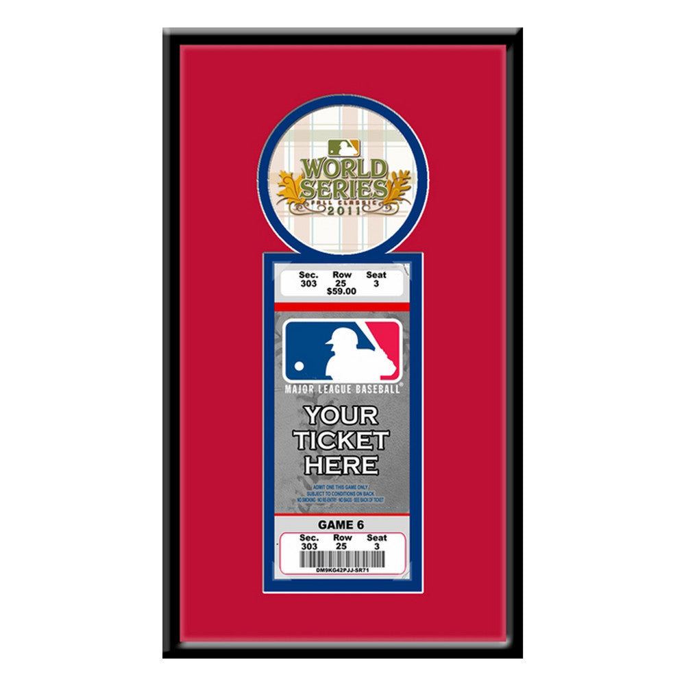 2011 MLB World Series Single Ticket Frame St Louis Cardinals