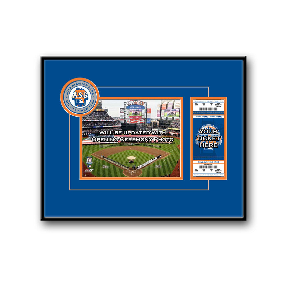 2013 MLB All Star Game 8x10 Photo and Ticket Frame Mets