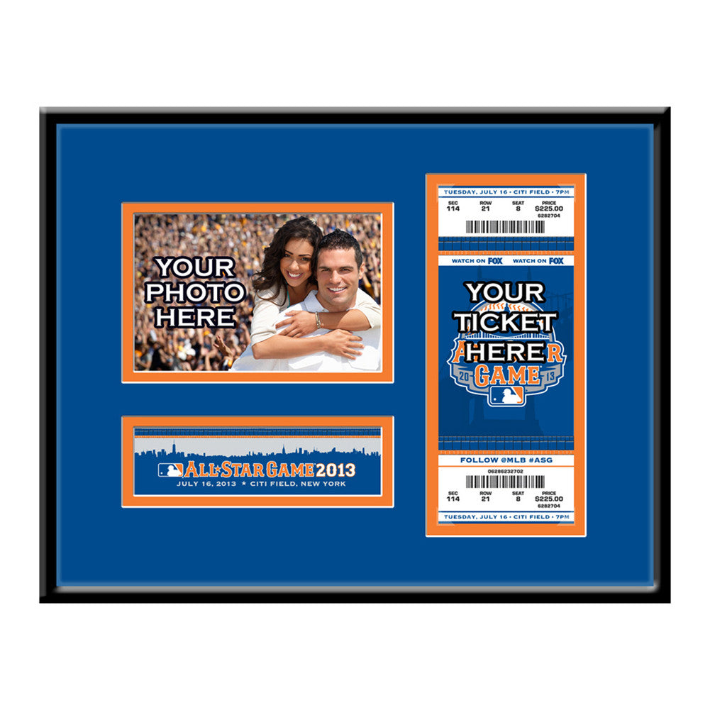 2013 MLB All Star Game 4x6 Photo and Ticket Frame Mets