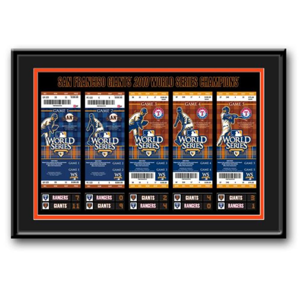 2010 World Series Tickets To History Framed Print San Francisco Giants