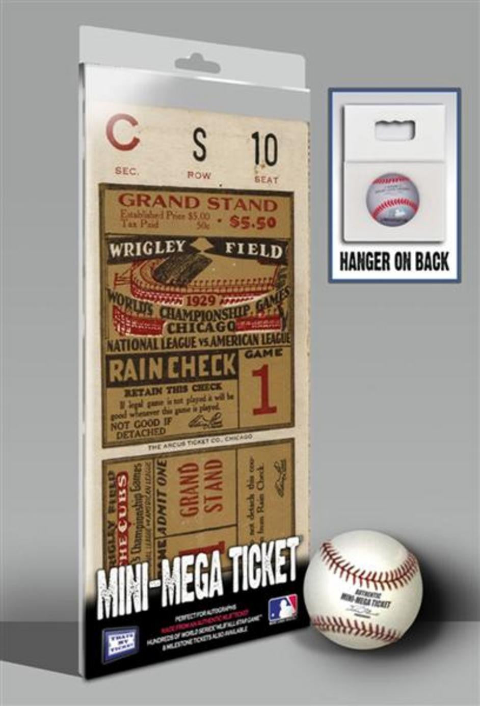 1929 World Series Mini Mega Ticket Chicago Cubs
