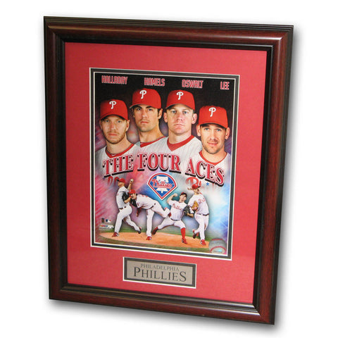 Treehugger 11X14 Unsigned Framed Photo - Philadelphia Phillies 4 Aces - Peazz Toys