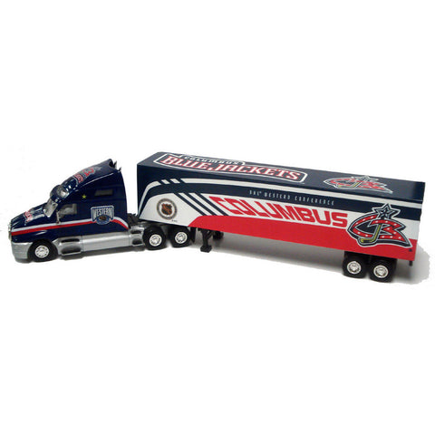 Tractor Trailer 1:80 Scale Diecast - Columbus Blue Jackets - Peazz Toys