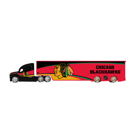 Top Dog Tractor Trailer Transport 1:64 Scale Diecast - Chicago Blackhawks - Peazz Toys