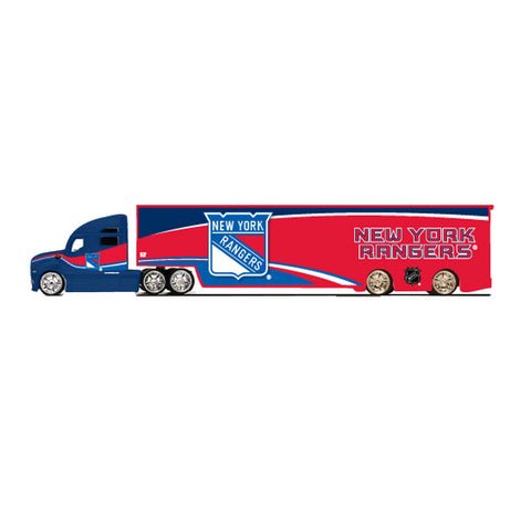 Top Dog Tractor Trailer Transport 1:64 Scale Diecast - New York Rangers - Peazz Toys