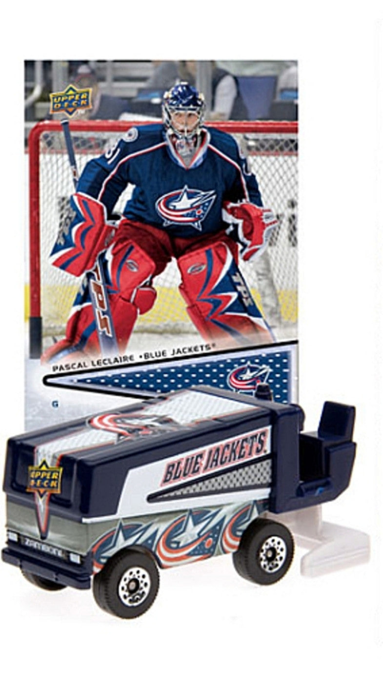 20089 NHL Zamboni Columbus Blue Jackets With Pascal Leclaire Trading Card