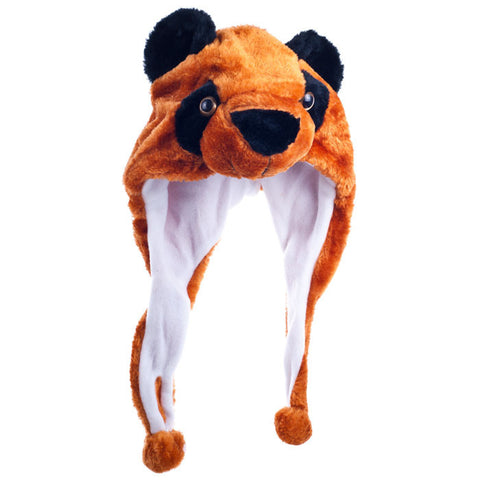 80-Htrp Critter Cap Plush Red Panda Hat - Peazz Toys
