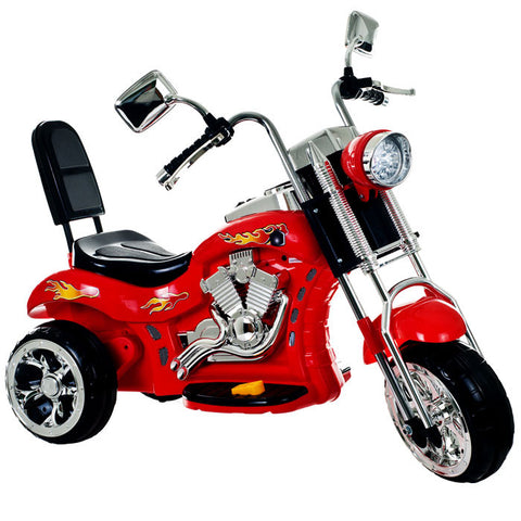 Lil' Rider 80-Vc108 Lil Rider Red Rocking Three Wheel Chopper Motorcycle - Peazz Toys