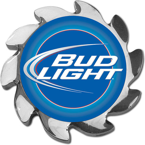Trademark Poker Abspin-Bl Bud Light Spinner Card Cover - Silver - Peazz Toys